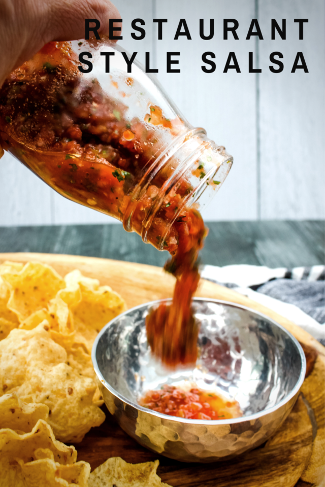 No need to visit your favorite Mexican restaurant for that irresistible Restaurant-Style Salsa - now you can make it at home!