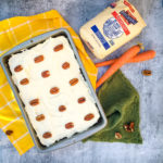 This easy, no-fuss Carrot Cake is a springtime (Easter!) favorite. A rich flavorful carrot cake baked in a single layer and topped with a vanilla cream cheese frosting, for a sweet cake that's hard to stop at just one piece.