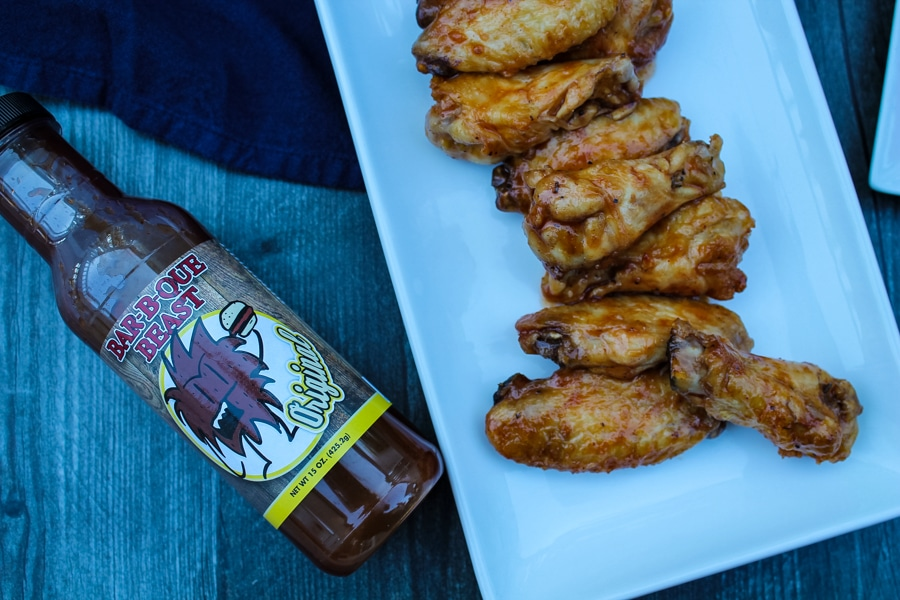 Cooking chicken wings in the air fryer creates a wonderfully crispy wing. Cook and then toss in your favorite BBQ sauce for a great snack, game day appetizer, or fun dinner.