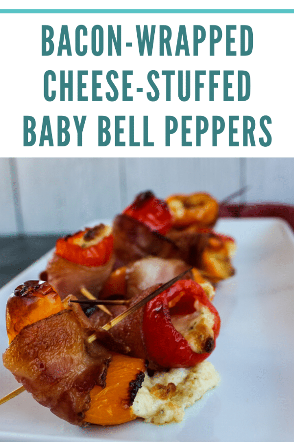 Bacon-Wrapped Cheese-Stuffed Baby Bell Peppers - Ready for the Oven