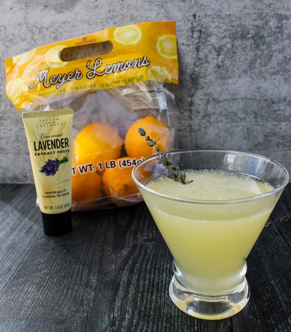 Sweet and tart with floral notes, this Meyer Lemon-Lavender Vodka Martini is a delightedly fresh cocktail to welcome fall, even if it doesn't quite feel like fall outside.