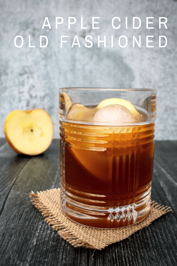 This Apple Cider Old Fashioned is fall in a glass. Belly-warming bourbon is balanced out with sweet apple cinnamon flavors for your new favorite fall cocktail.