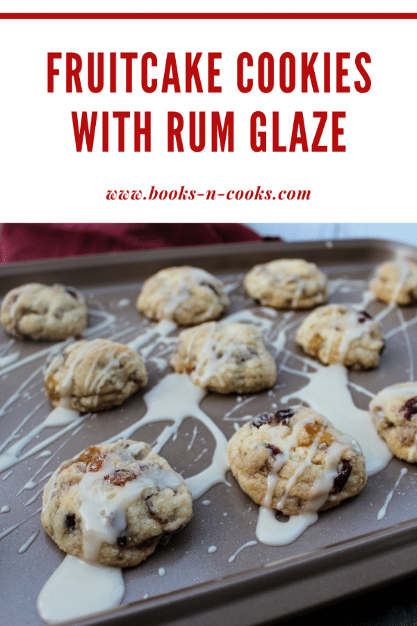 Just like the Christmas classic fruitcake, these Fruitcake Cookies with Rum Glaze are studded with sweet dried and candied fruits, delicious pecans, and the topped with a rum glaze. They disappeared quicker than I imagined! #ChristmasCookies