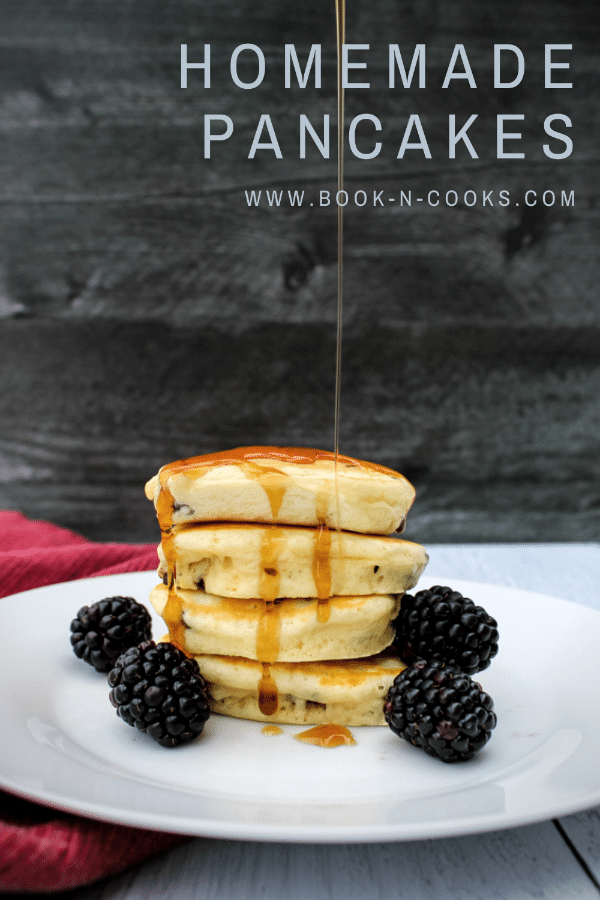 Homemade pancakes are easier than you think. This big batch pancake mix gets mixed up in a flash for weeks of homemade pancakes or for holiday gifting. The fluffy pancakes will disappear quickly! #OurFamilyTable #FoodGifts
