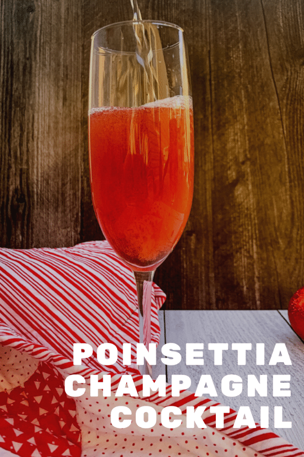 Poinsettia Champagne Cocktail on Books n' Cooks