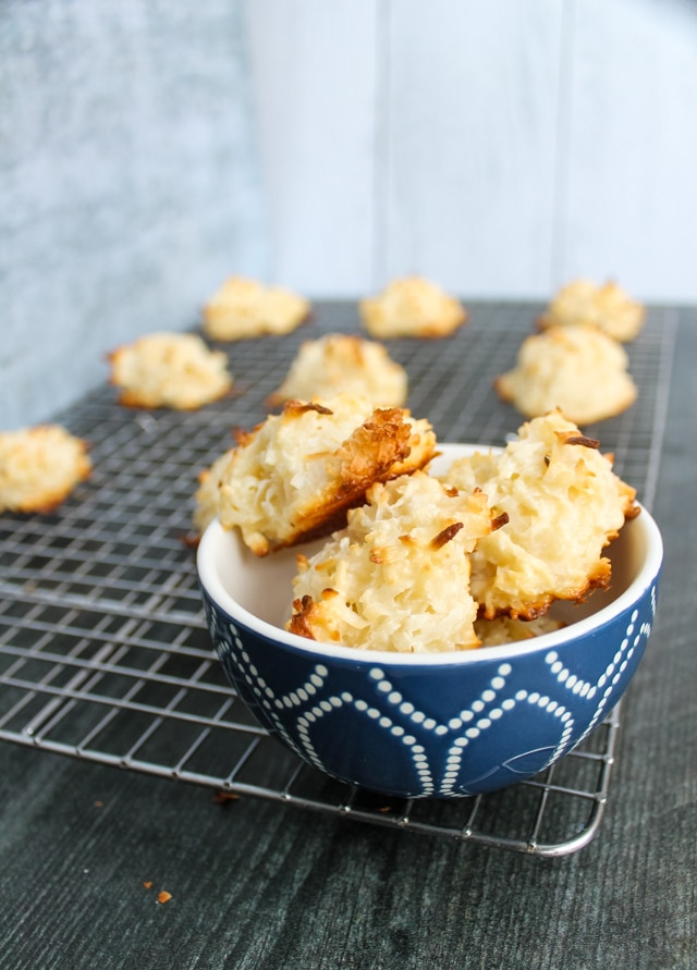 bowl of coconut macaroons