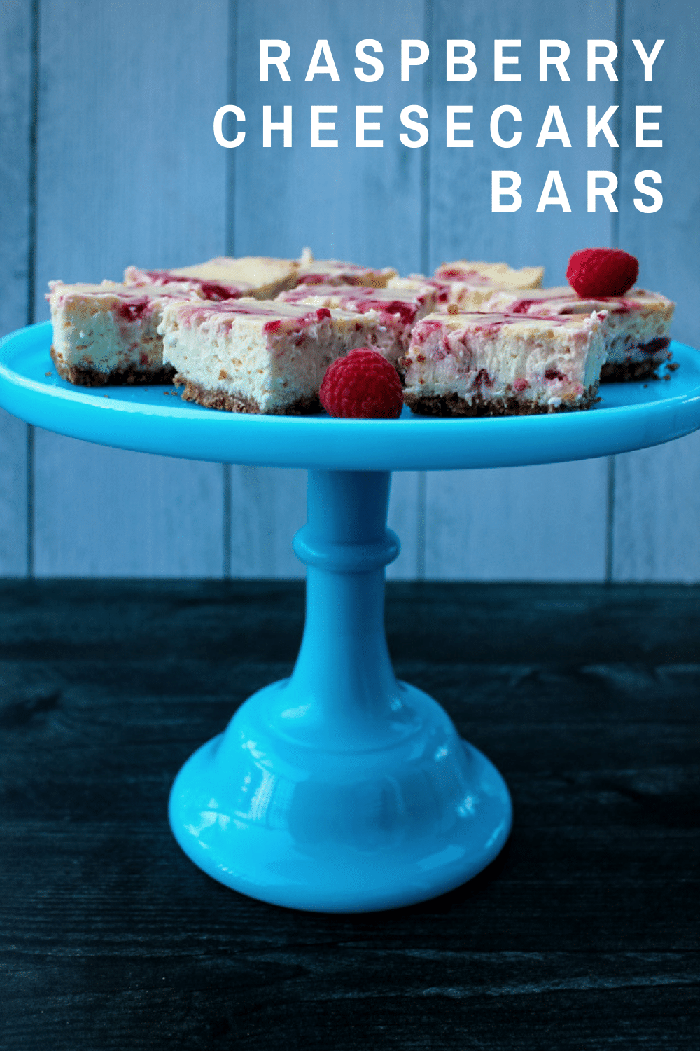 These Raspberry Cheesecake Bars are a favorite dessert in bar form. Creamy cheesecake is swirled with fresh raspberry sauce for a sweet spring or summer cookie perfect for sharing.