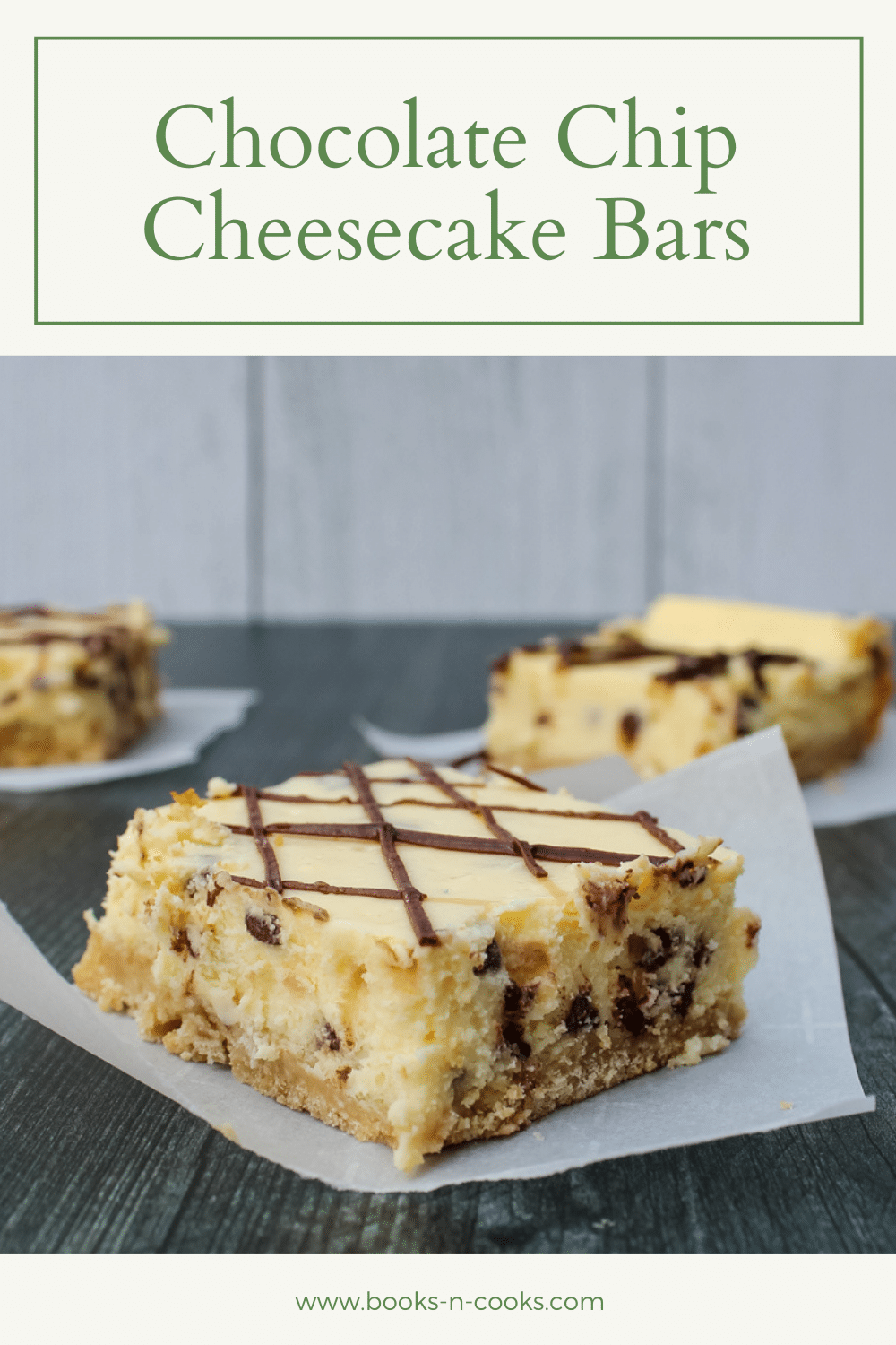While you do need the oven for these Chocolate Chip Cheesecake Bars, these sweet treats are a light, bright dessert to enjoy all summer long.