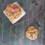 overhead view of Espresso Chocolate Chip Cookies
